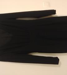Crna haljina dugih rukava H&M