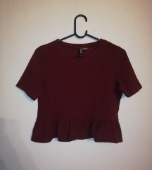 H&M peplum crop top