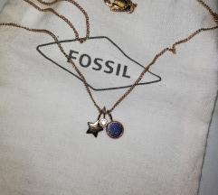 Fossil ogrlica rose gold🎀