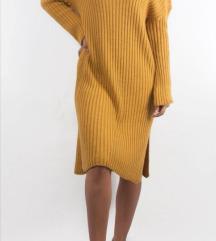 NOVA žuta haljina