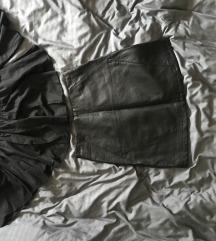 Akcija kozna suknja i top(top prodan)