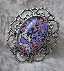 Prsten ''Purple unicorn'' (ručni rad)