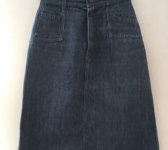 Vintage denim midi suknja