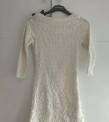 NOVA prljavobijela šljokičasta haljina