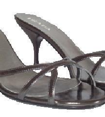 Prada metalik sandale