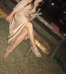 Zlatna svečana haljina na preklop