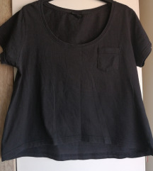 Crna crop majica