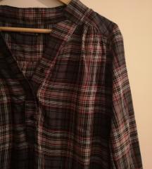 Karirana asimetrična košulja