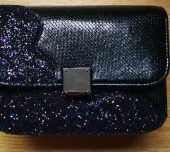 Nova Lovely Bag crna sa šljokicama torba