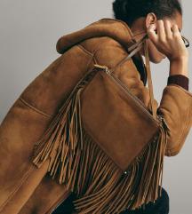 Massimo Dutti kožna torba s resama