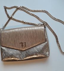 Trussardi jeans zlatna torbica