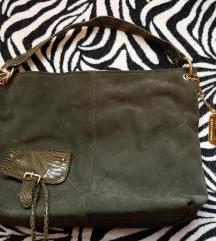 Zelena kožna torba u stilu Dolce Gabbana