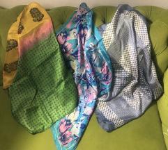 Tri prelijepa svilena šala/marame
