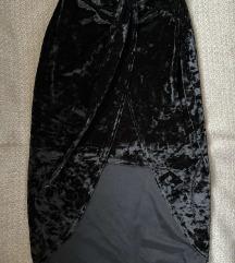 Missguided baršunasta suknja