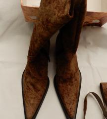 Kaubojske čizme , brušena koža NOVO