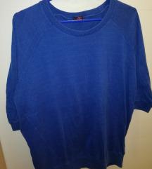 Plavi oversize pulover %%% RASPRODAJA