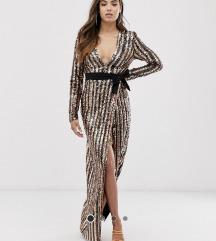 Šljokicasta duga haljina