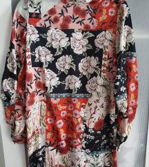 MANGO mini haljina s printom