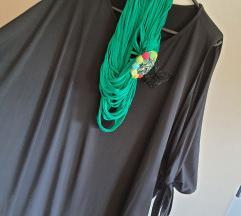 Crna haljina/tunika s otvorenim rukavima XXL