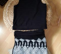 Suknja, H&M xs i majica