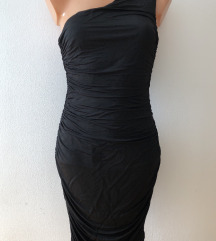 NOVO 220! H&M crna haljina jedno rame, S, 36