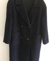 Maxi oversized dugi plavi kaput vel M/L