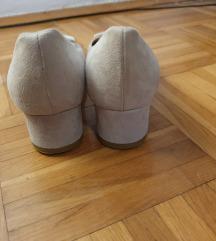 ROSSI krem kožne balerinke (prava koža)