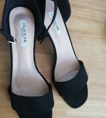 Nove crne elgantne sandale