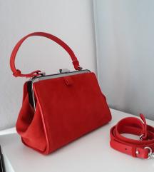 Zara torbica, prava koža