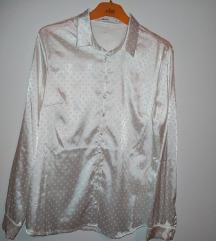 Satenska bijela košulja