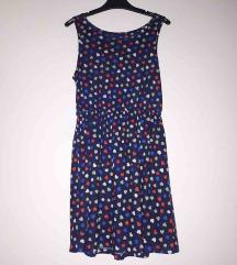 Tamnoplava kratka haljina bezrukava