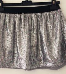 Bershka srebrna suknja