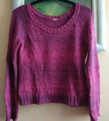 Roza majica pulover dugih rukava, vel S