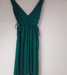 Ljetna zelena haljina viskoza HM 38