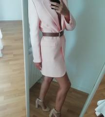Zara novi pastelno rozi kaputic / sako