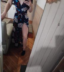 duga ljetna haljina s prorezom dns %100kn%