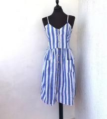 ASOS prugasta haljina bez rukava