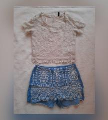 Crop majica i kratke hlacice