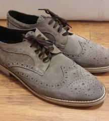 Muške cipele od brušene kože