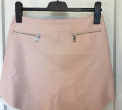 Puder roza mini suknja