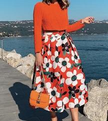 Orange pulover