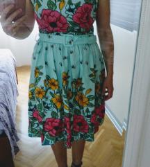 Retro cvjetna haljina