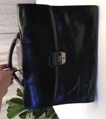 Crna kozna poslovna torba