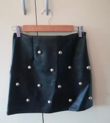 Odlična jesenska mini kožna suknja XS/S