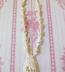 Vintage ogrlica od kosti AKCIJA 50 kn!
