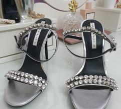 Zara srebrne sandale
