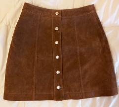 Suknja od prave kože