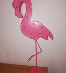 Ružičasta flamingo lampa