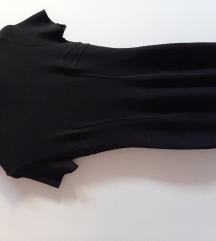 Prodajem crnu midi Stefanel haljinu kratkih rukava
