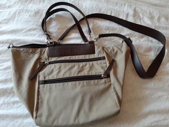 Sonia Rykiel crossbody torba nylon i koža